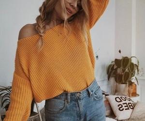 fall, sweater, and fashion image