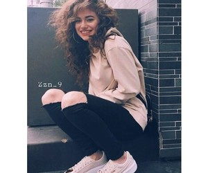 fashion, beautiful, and curly hair image