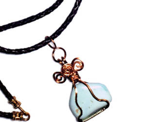 copper, paradise turquoise, and turquoise necklace image