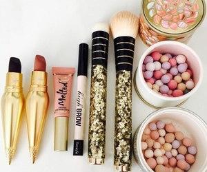 lipstick, makeup, and make up image