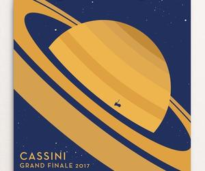 art, cassini, and outer space image