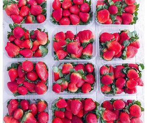 fruit, raw food, and strawberry image