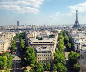 buildings, paris, and travel image