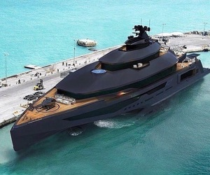 black, boat, and luxury image
