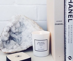 chanel, white, and book image