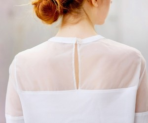 female, redhead, and transparent image