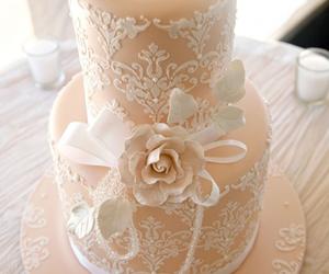 cake, wedding, and wedding cake image