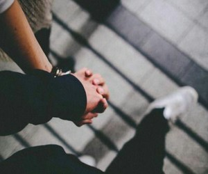 couple, holding hands, and cute image