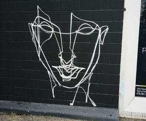 art, black, and street image