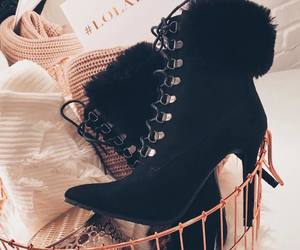 black, shoes, and clothing image