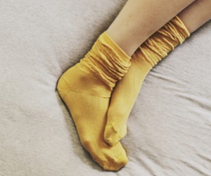 socks, yellow, and aesthetic image