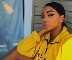 makeup, model, and yellow image