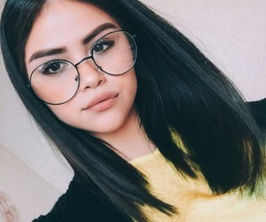 beauty, glasses, and makeup image