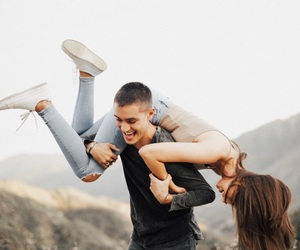 couple, cute, and girl image