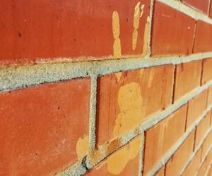 brick wall, orange, and photography image