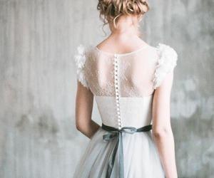bridal, femininity, and wedding dress image