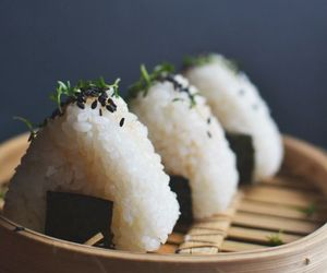 food, onigiri, and japan image