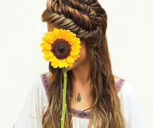 fashion, hairstyle, and girasol image