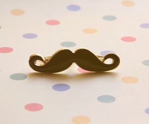 moustache, mustache, and ring image