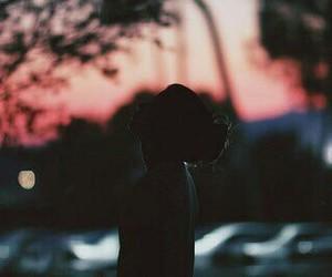 girl, vintage, and dark image