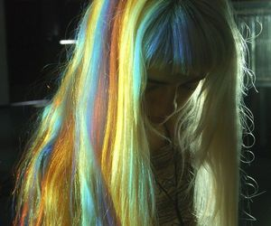 colors, girl, and sparkle image