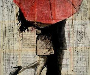 love, umbrella, and art image