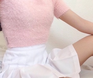 pink, aesthetic, and outfit image