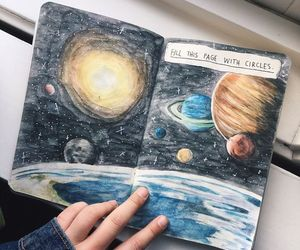 galaxy, planet, and art image