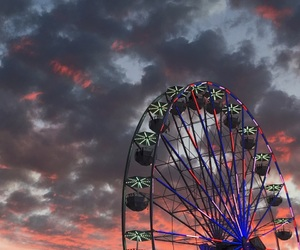 aesthetic, amusement park, and bright colors image