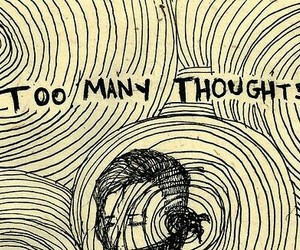 thoughts, quotes, and drawing image