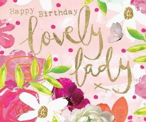 birthday card, butterfly, and feminine image