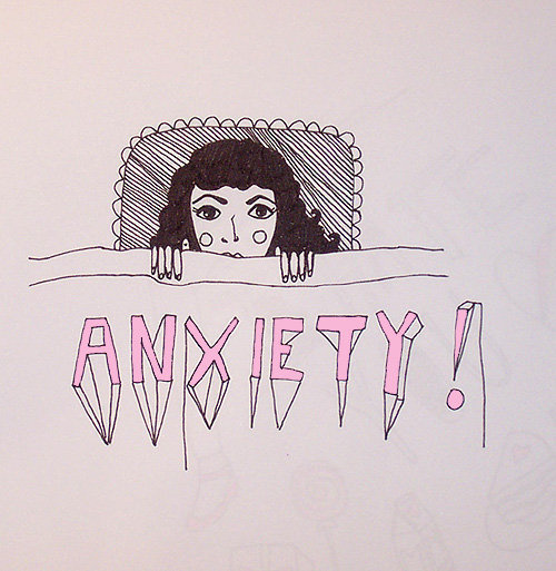 anxiety, illustration, and art image