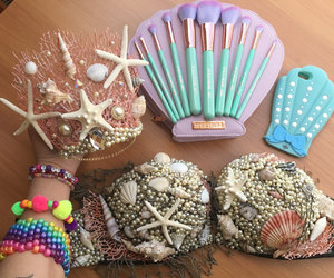 etsy, mermaid bra, and rave wear image