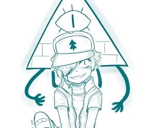 bipper, bill cipher, and dipper pines image