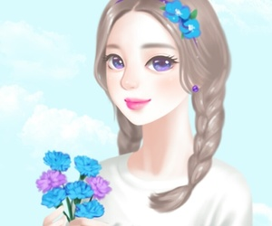 beauty, cartoon, and Enakei image