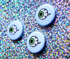 buttons, etsy, and eyeball image