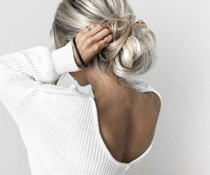 beautiful, blonde hair, and girl image