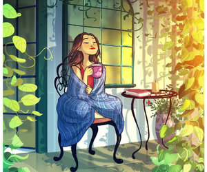 garden, peace, and tea image