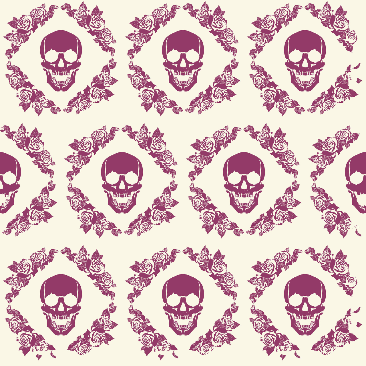 Purple Skull Wallpaper Discovered By Amyjames