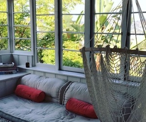 blue, hammock, and home image