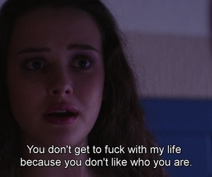 frase, fuck, and 13 reasons why image