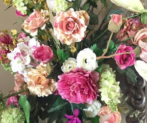 flowers, green, and rose image
