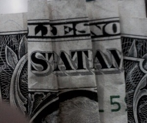 satan, money, and grunge image