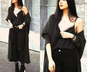 blouse, necklace, and outfit image