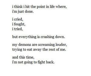 depressed, quote, and sad image
