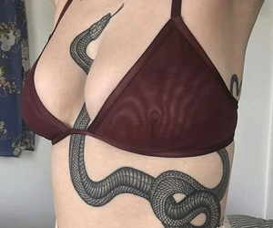 tattoo, snake, and tumblr image
