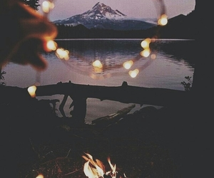 light, mountains, and nature image