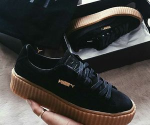 black, creepers, and fashion image
