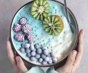 food, kiwi, and blueberry image