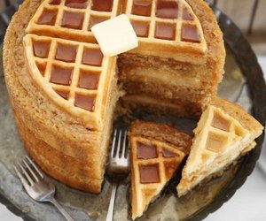 waffles, food, and cake image